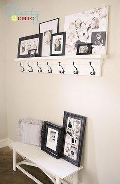 DIY Shelf with Hooks