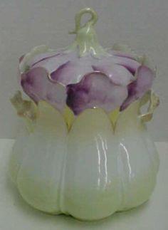 R.S. Prussia Floral Biscuit Jar.