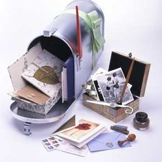 For Your Pen Pal......Omg i totally need to decorate an old mail box head and put all my letter writing stuff in there!