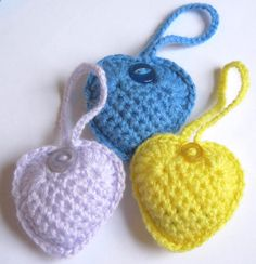 peapod soup: Valentine Crochet Hearts Tutorial