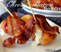appet, bite, cheesey bacon bombs, food idea, delici, eat, recip, parti food, cheesi bacon