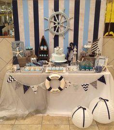 Nautical Birthday Party - so classy!