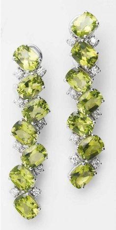 Peridot and Diamond 'Malibu' Earrings by Antonini