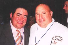 Chef Jim with Chef Emeril in Chicago. meet chef, chef emeril, chef jim