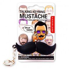 Lol.  Talking mustache keychain!