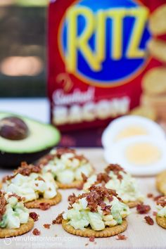 Egg and Avocado Salad with Bacon Crackers #ad