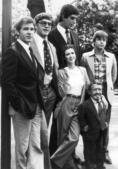 Star Wars cast: Han Solo, Darth Vader, Chewie, Leia, R2-D2, Luke Skywalker