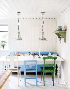 white wood paneling