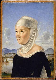 A Woman, Possibly a Nun of San Secondo; (verso) Scene in Grisaille, Jacometto (Jacometto Veneziano).    (Italian, active Venice by ca. 1472–died before 1498)