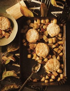 Sweet Paul's Baked Apples with Biscuits #Recipe #FallFood