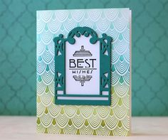 Best Wishes Card by Laura Bassen for Papertrey Ink (March 2014)