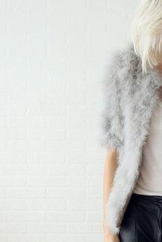 faux gray fur