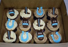 horses, themed cupcakes, bake, wedding cupcakes, wedding cakes, themed weddings, parti food, hors cupcak, 2 horse birthday cake