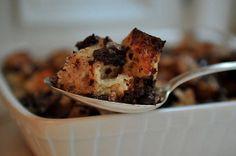 chocolate bourbon bread pudding