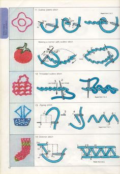 tutorial bordados puntos embroidery bordat