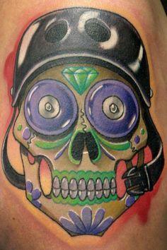 Roller Derby Sugar Skull tattoo