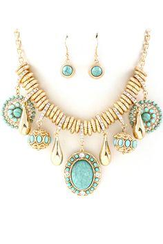 Turquoise Capri Necklace Set