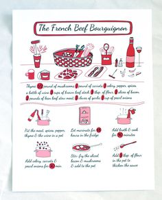 French Food - LOVE these French food posters by Geraldine Adams!