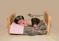 Custom Order Army Fatigue Camouflage set photo prop $35 Newborn and Baby Photography props #Snipits #Snipitsink #AmandaRachaelPhotography