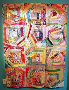 A scrappy, happy quilt.