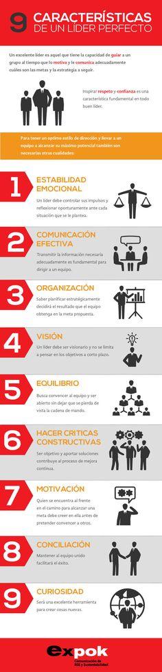 9 características de un líder perfecto #infografia #infographic #leadership