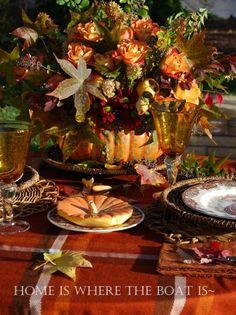 Beautiful autumn tablescape !!!