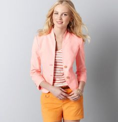 I love this jacket! jacket, work clothes, the loft, blazer, color combos, spring colors, outfit, taylor loft, ann taylor