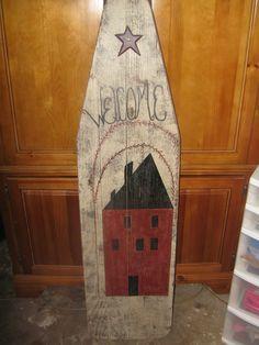 old iron board