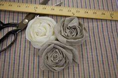 fabric rosettes - so pretty and super easy to make!