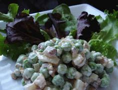 Pea Salad with Bacon (Frugal Gourmet)