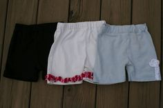 Biker Short Tutorial.  Great for girls of all sizes to wear under their skirts and dresses.  Tells how to make it out a T-shirt.  LOVE!