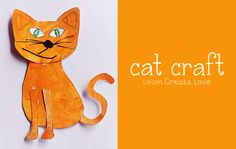 Printable Cat Craft from http://learncreatelove.com