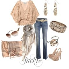 Pink, Grey, Gold #outfit