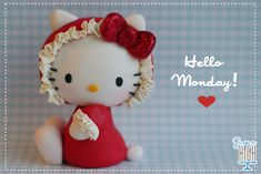 Hello Monday!  Fondant Hello Kitty made by Sugar High, Inc.