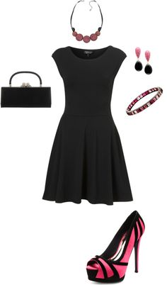 """Black and Pink"" by in2song on Polyvore"
