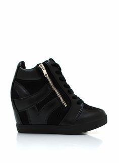 Zippered Sneaker Wedges