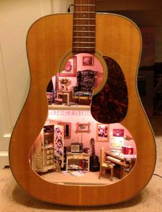 little girls, daughter, fairi, miniature dollhouse, 25th birthday, guitars, doll houses, kid, birthday gifts