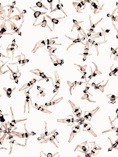 Synchronized Swimmers by Jeannie Phan, via Behance