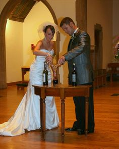 A wine blending ceremony can make your wedding special and memorable.