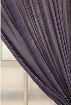 purple velvet curtain