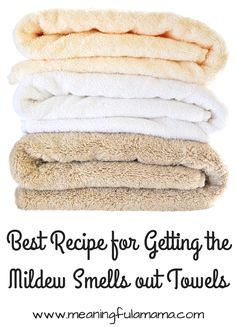 how to get the mildew smell out of towels