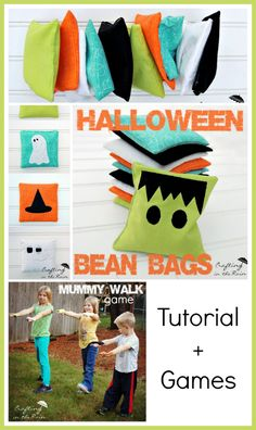 How to make Bean Bags + Halloween game ideas #halloween #game #craft