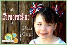 Lil Firecracker Felt Hair Clips tutorial · Felting   CraftGossip.com