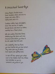 pre k graduation poem