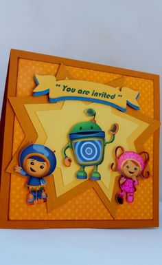 2D Team Umizoomi Birthday Party Invitations -Team Umizoomi Party - Team Umizoomi. $48.00, via Etsy.