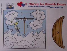 Knutselwerkje Jezus en de storm op het meer / Jesus+acalma+a+tempestade+atividade