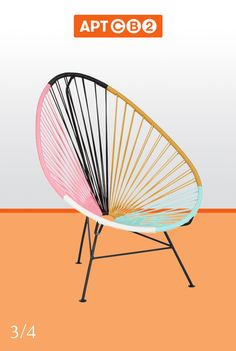 I'm pretty much obsessed with this chair. The multi-colors and the classic shape?! It's love! Get yours from the #APTCB2 Collection at www.cb2.com/APTCB2