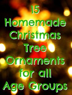 15 Handmade Christmas Tree Decorations to make Christmas special!