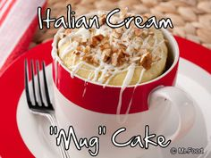 "Late night craving for something sweet? Our recipe for Italian Cream ""Mug"" Cake makes for an irresistible treat when you've got a quick late night craving. Plus, all you need is your microwave!"