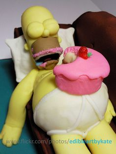 Homer Simpson Cake,My Son Would Love This